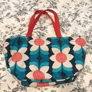 Sale!🎃Bright teal and red Fossil tote